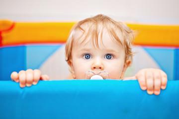 Closeup of one year baby boy