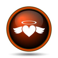 Heart angel icon