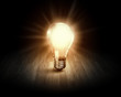 Leinwandbild Motiv Light bulb