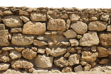 Stone wall isolated