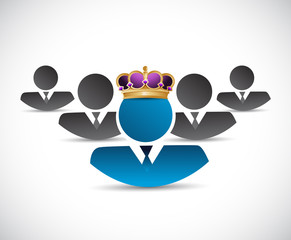 business king illustration design