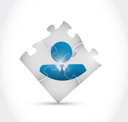 avatar puzzle pieces illustration design