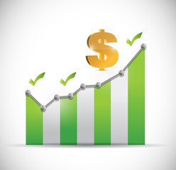 dollar business graph illustration design