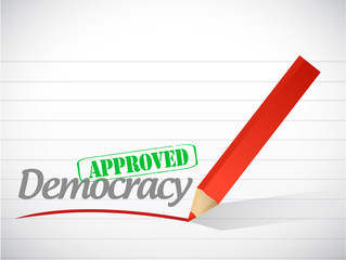 approved democracy sign illustration design