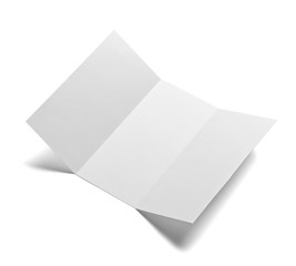 folded leaflet white blank paper template book