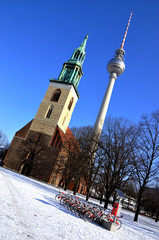 The Catholic Church and the TV tower in Berlin