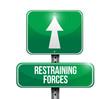 restraining forces street sign illustration design