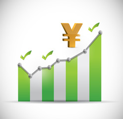 yen business graph illustration design