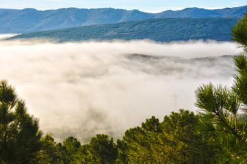 Paisaje, mar de nubes, Valle del Escorial, Castilla-La Mancha