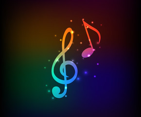 Song symbol,Rainbow vector