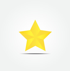 Gold-star-vector-icon