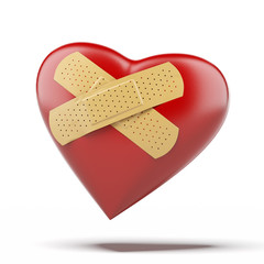 heart with a bandage