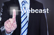 Businessman Pressing Webcast Button