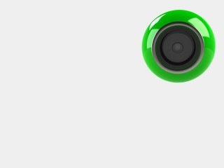 web camera on a white background, 3d illustration