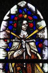 A nun with Jesus on a cross