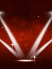 Party Spotlights Music Background