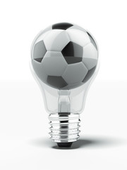 lightbulb with football inside
