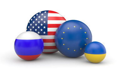 USA, Europe, Russia and Ukraine