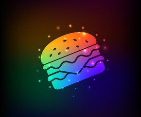 Hamburger symbol,Rainbow vector