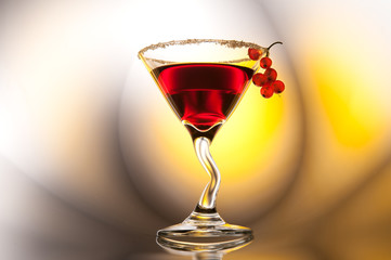 Red cocktail with red currants