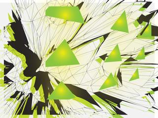 Futuristic illustration - 3D vector background