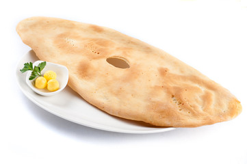 Pita bread with butter