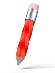 Twisted Red Pencil