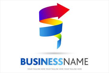 logo spirale, logo azienda, vortice, sole