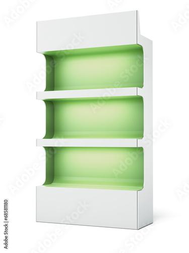 Keuken foto achterwand Boodschappen Green supermarket shelves