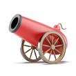 Leinwanddruck Bild - Red cannon