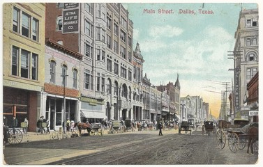Dallas, Main Street 1908 (hist. Postkarte)