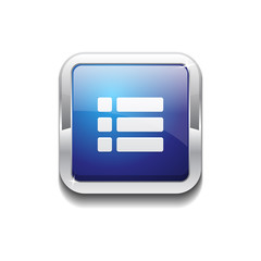 Options Rounded Corner Vector Blue Web Icon Button