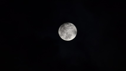 Full moon with cloud. Time Lapse. HD