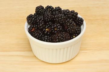 Blackberries in a ramekin