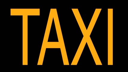 Sign Taxi in Different Colors