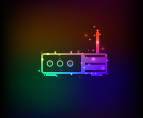 Router symbol,Rainbow vector