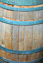 Old barrel for the wine.