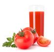 Tomato fruit juice in glass