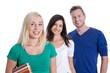 Gruppe junger Leute: Studenten oder Auszubildende isoliert