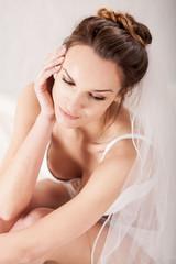 Sexy bride in underwear