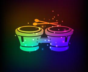 Drum symbol,Rainbow vector