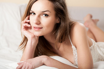 Sensual girl in bed