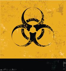 Danger,Nuclear symbol,grunge vector