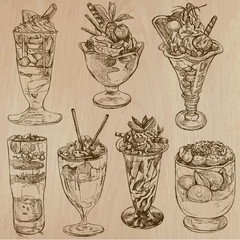 Candy and Sweets - Collection of hand drawn illustrations