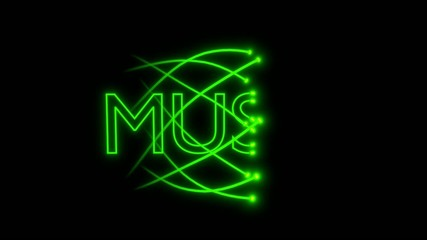 VJ loop - musical neon sign - music