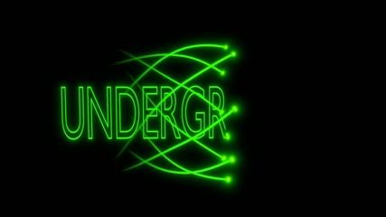 VJ motion loop - musical neon sign - underground