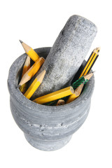 Pencils in Mortar