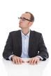 Der Skeptiker: Nachdenklicher pessimistischer Businessmann