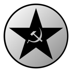 Communism star button