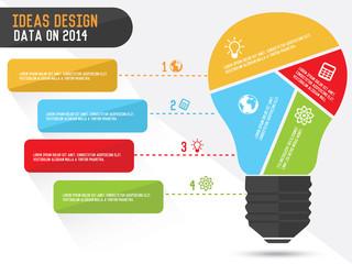 Lightbulb infographics design